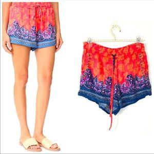 Free People San Paulo silky flowy shorts S